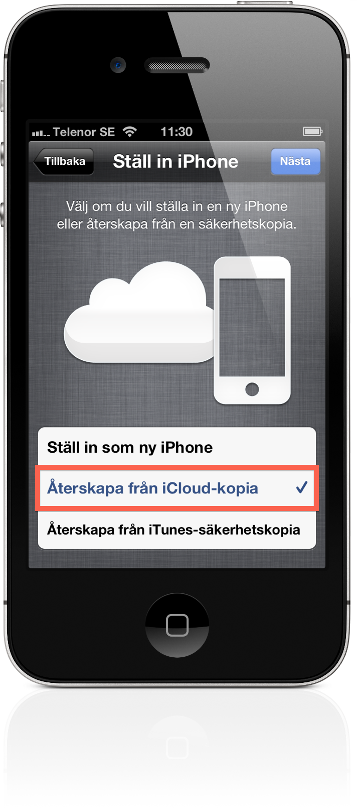 how to use icloud on iphone se